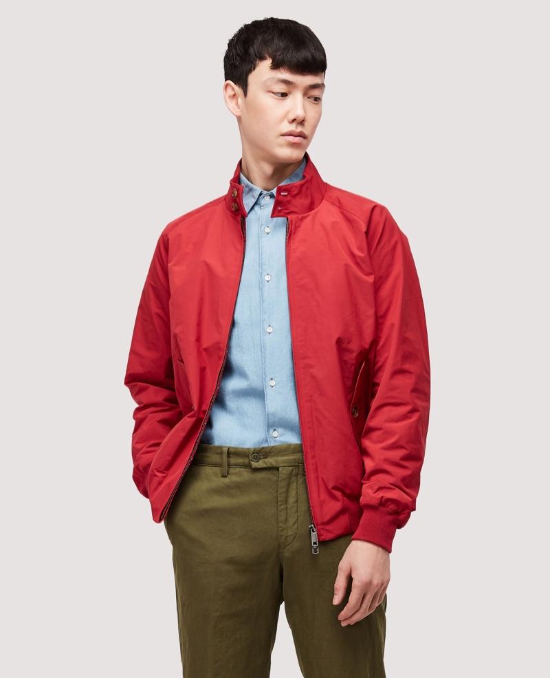 Baracuta G9 Harrington Jacket Dark Red