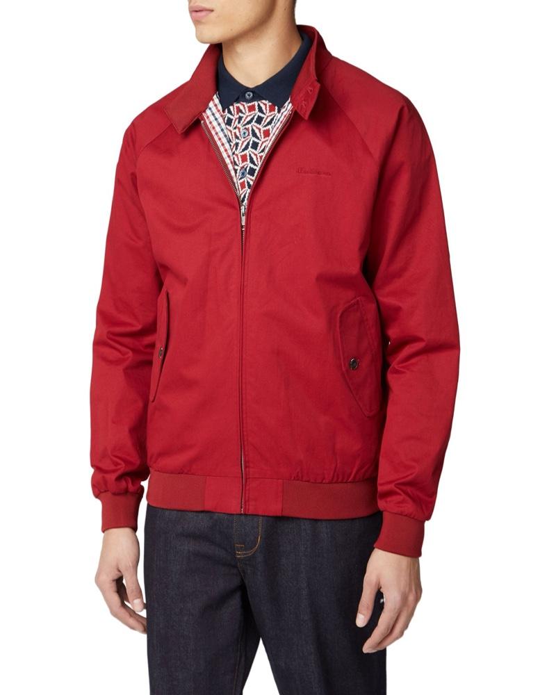 Ben Sherman Signature Harrington Jacket Red