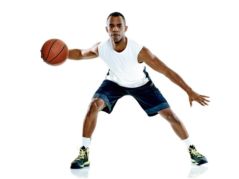 Black Man Basketball Playing