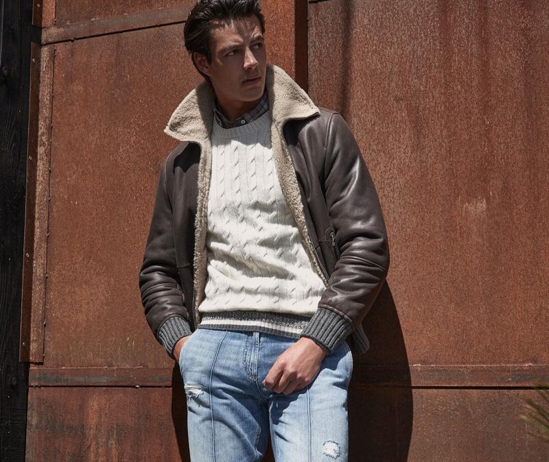 Harry Gozzett Inspires in Smart Denim Looks by Brunello Cucinelli