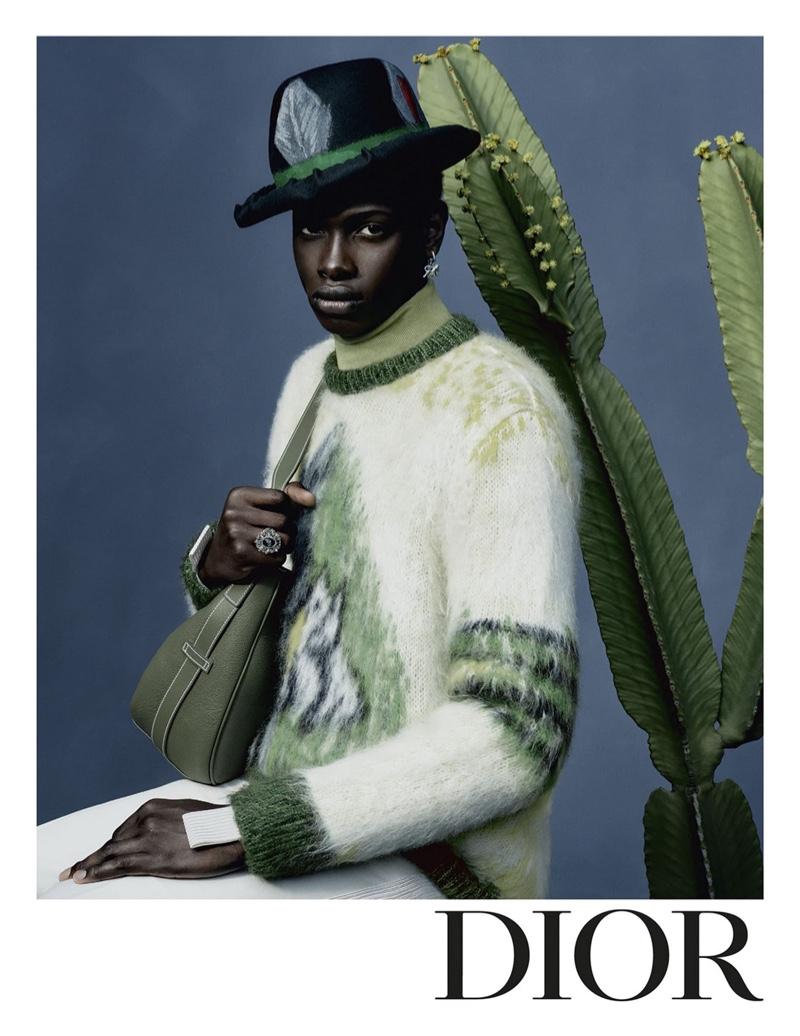 Djibril N'Diaye appears in Dior Men's new fall-winter 2021 campaign.