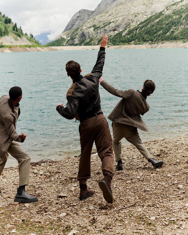 Emiliano, Fabio & Hugo Model Giorgio Armani Fall Arrivals