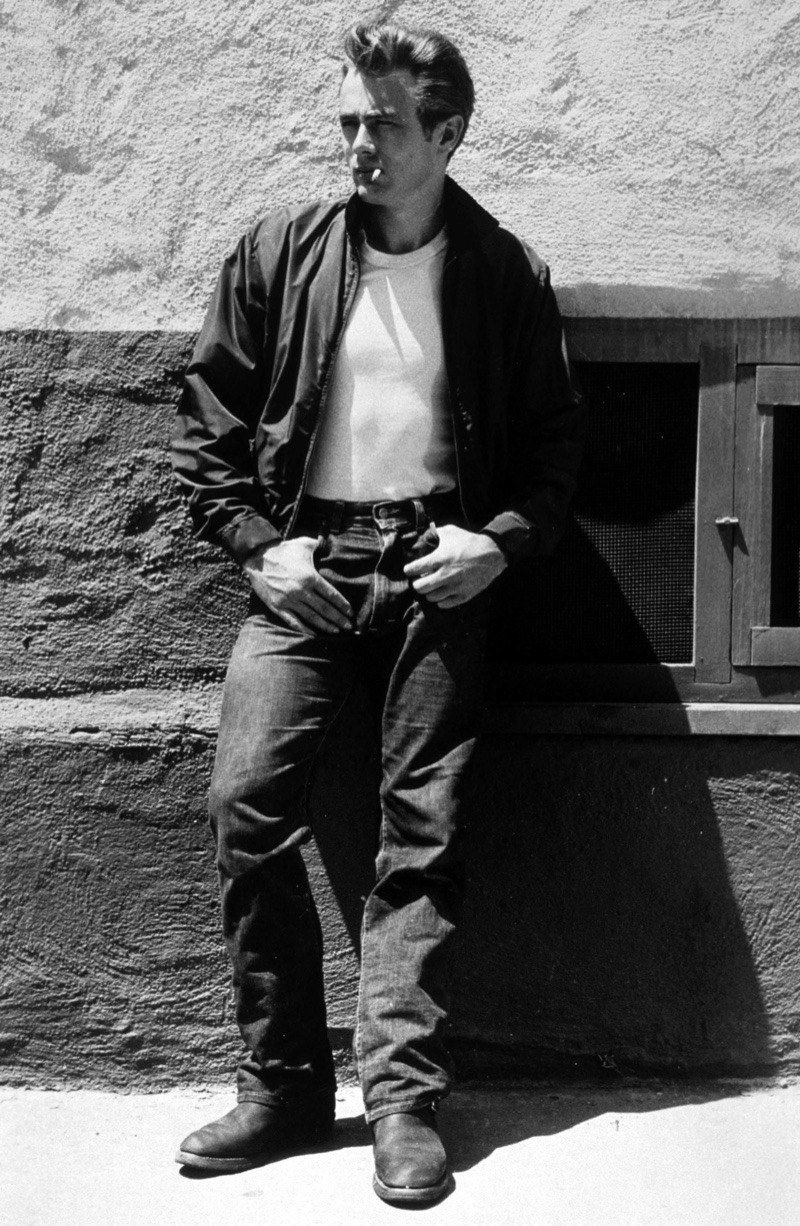 James Dean Rebel Without a Cause 1955 Smoking Against Wall