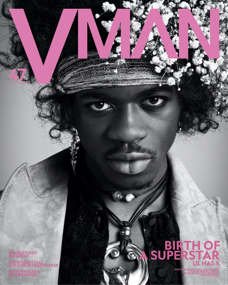 Lil Nas X covers the most recent issue of VMAN magazine.