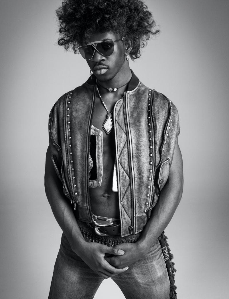 Lil Nas X Channels Jimi Hendrix for VMAN, Talks 'Montero' Album
