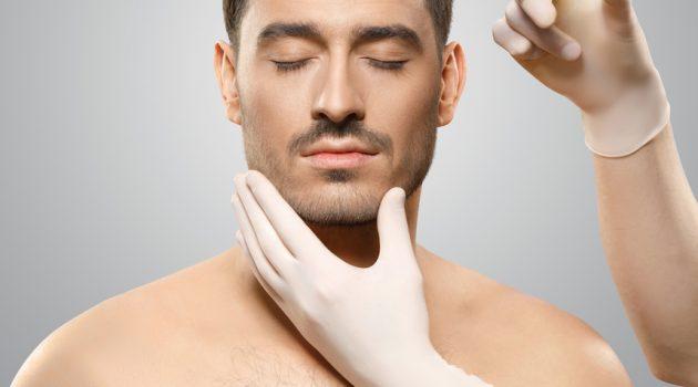 Man Getting Botox Forehead