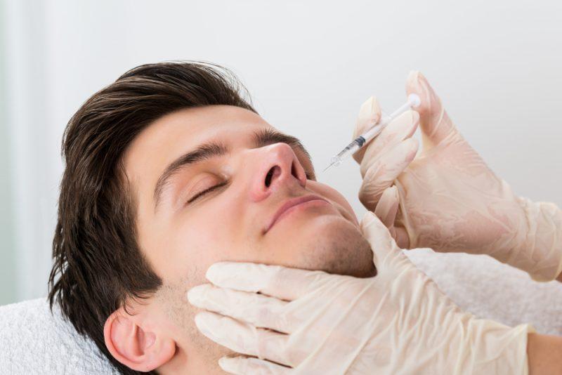 Man Getting Botox Near Nose
