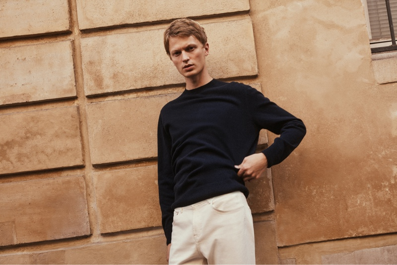 Taking to the streets of Paris, Jonas Glöer embraces relaxed style from Massimo Dutti.