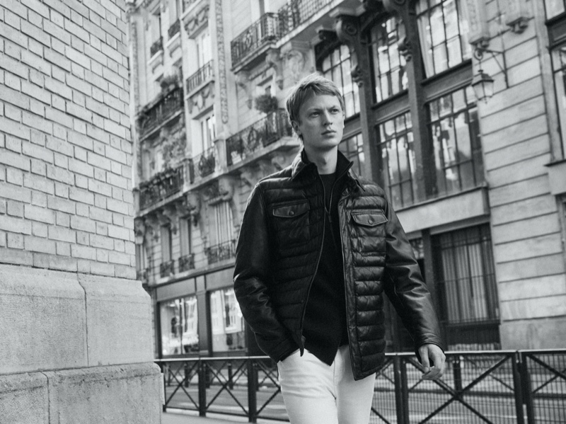 Jonas Glöer Hits the Streets of Paris in Massimo Dutti Fall Collection
