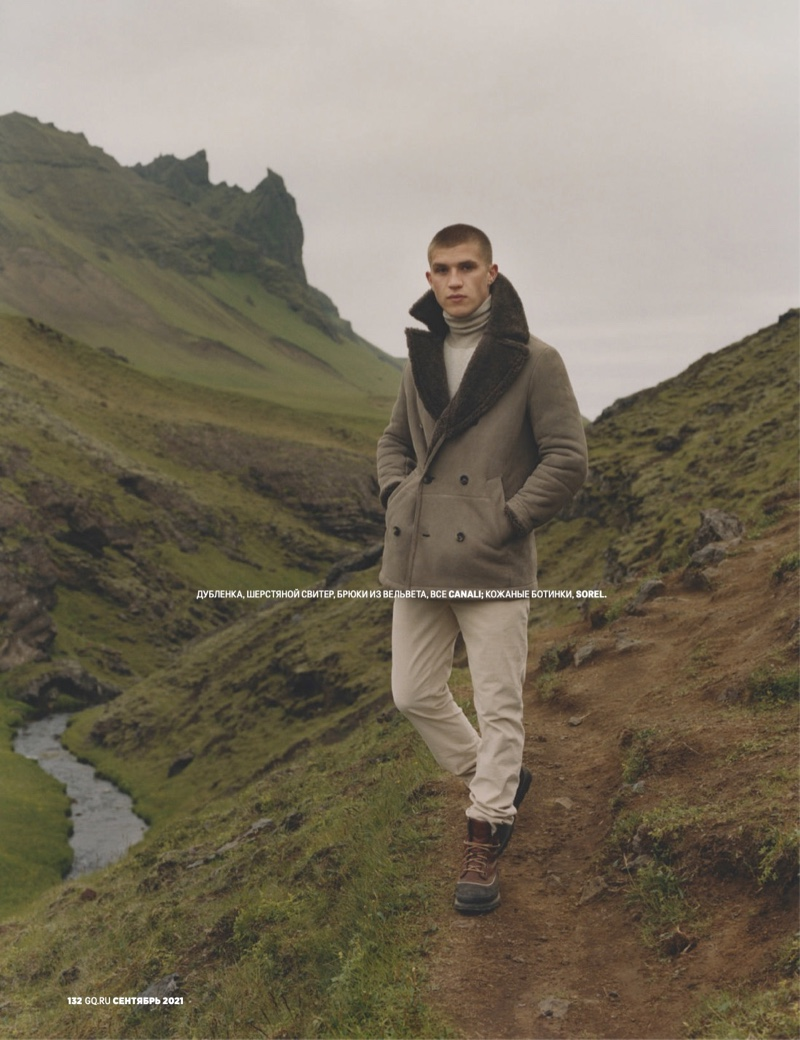 Oisin Murphy Travels to Iceland for GQ Russia