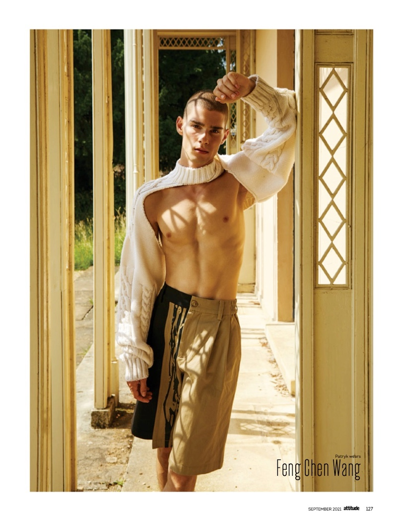 Patryk Lawry Dons the Fall Collections for Attitude Cover Shoot