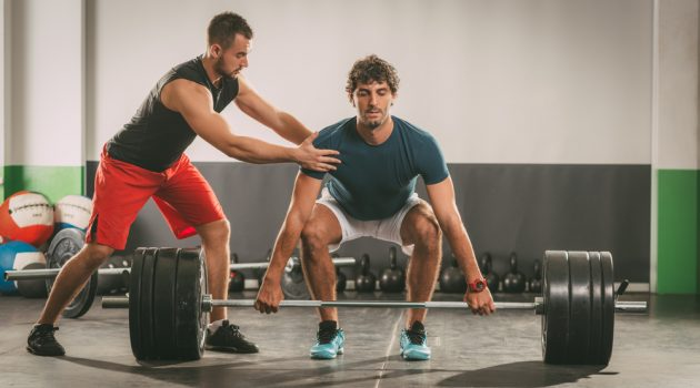 Personal Trainer and Client Weights