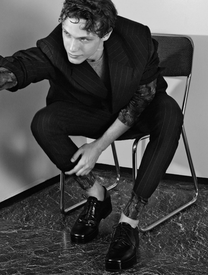 Lorenzo Gonzi fronts Prada's fall-winter 2021 men's campaign.