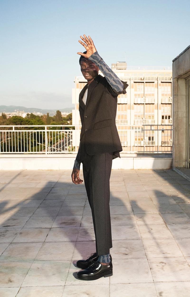 Dara Gueye stars in Prada's fall-winter 2021 men's campaign.