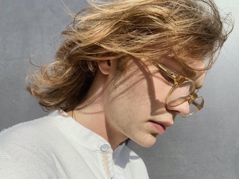 Charlie Plummer stars in Rag & Bone's fall 2021 eyewear campaign.