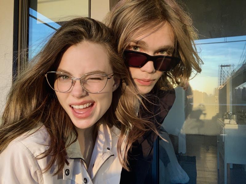 Actors Kristine Froseth and Charlie Plummer charm in Rag & Bone's fall 2021 eyewear campaign.