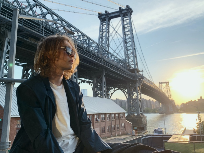 Actor Charlie Plummer fronts Rag & Bone's fall 2021 eyewear campaign.