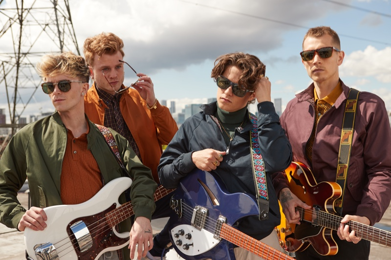 The Vamps front Ben Sherman's fall-winter 2021 campaign.