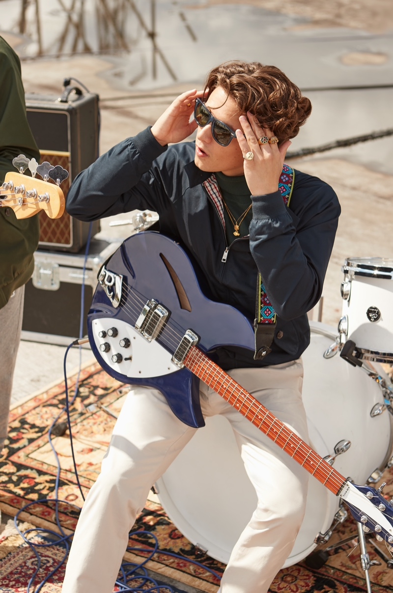 Bradley Simpson of The Vamps fronts Ben Sherman's fall-winter 2021 campaign.