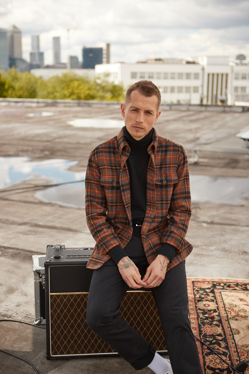 James McVey of The Vamps appears in Ben Sherman's fall-winter 2021 campaign.