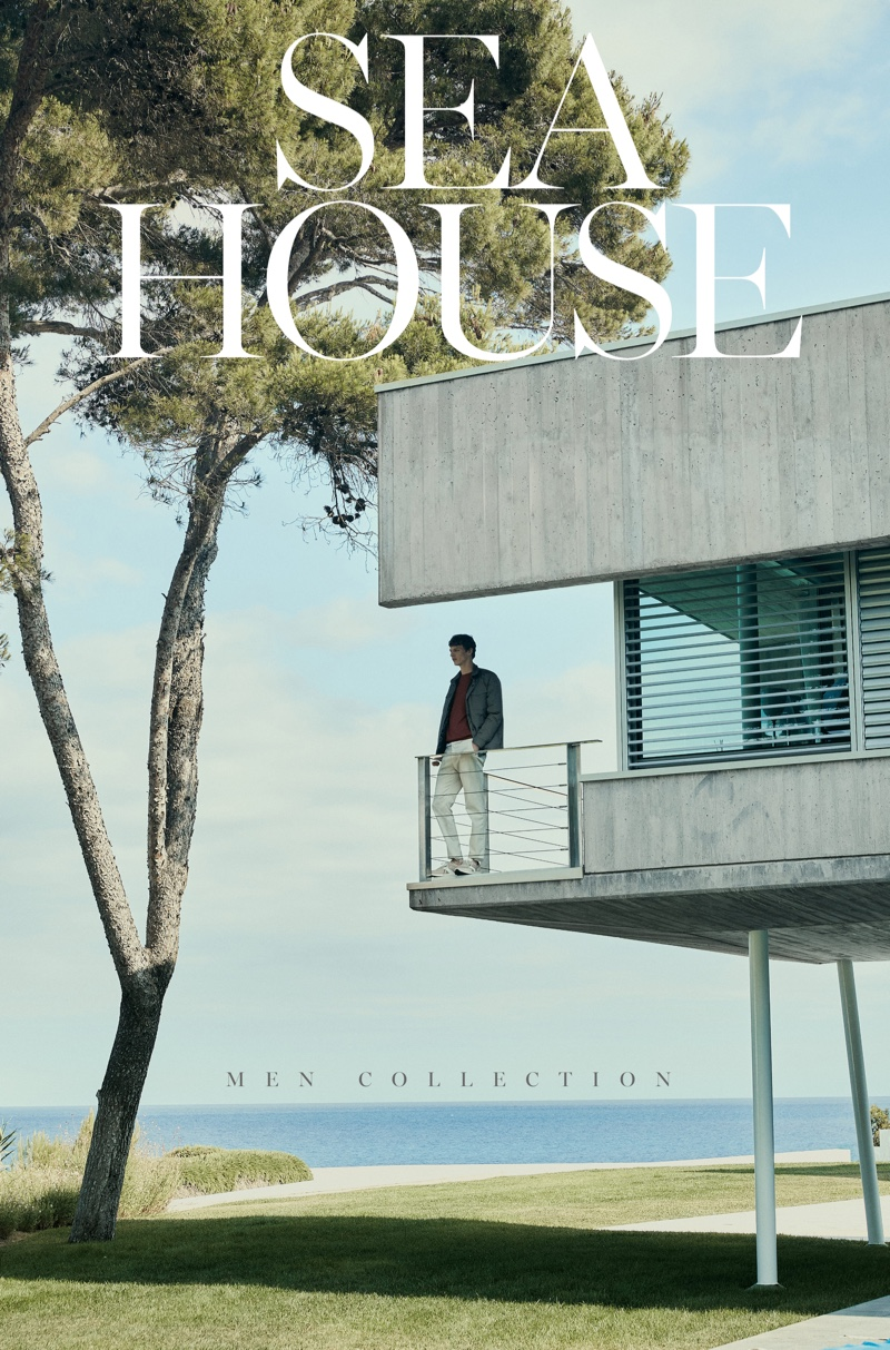 """Tim Schuhmacher stars in a story entitled """"Sea House"""" for Massimo Dutti."""
