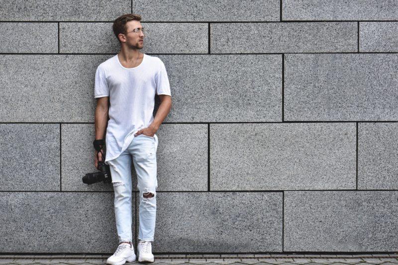 Trendy Man in Jeans