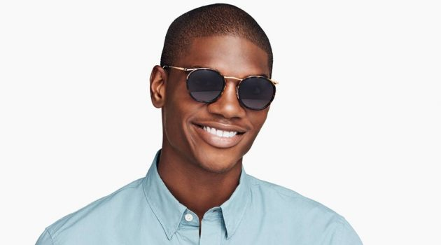 Warby Parker unveils new mixed-material eyewear with styles such as its Carmen sunglasses that feature a cognac tortoise with polished gold frame.