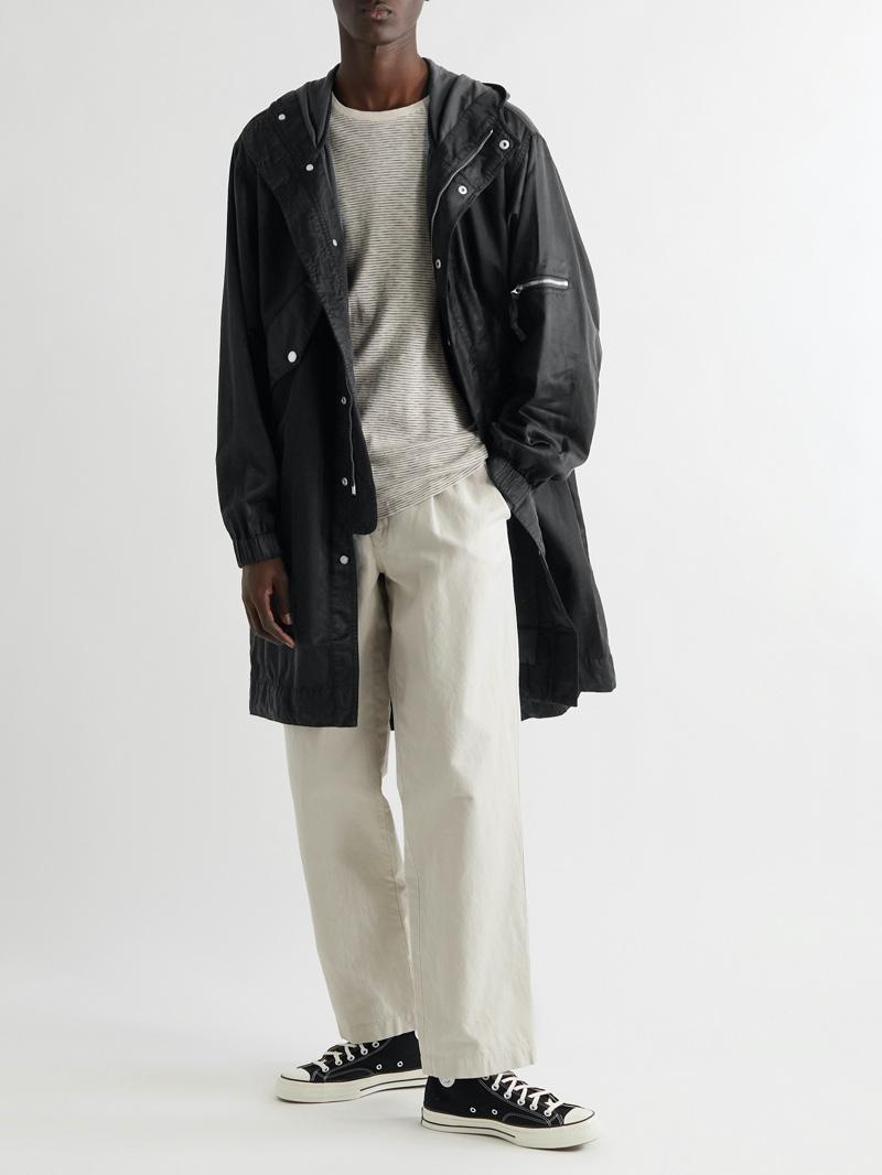 YMC Hunter Coated Cotton-Blend Hooded Parka