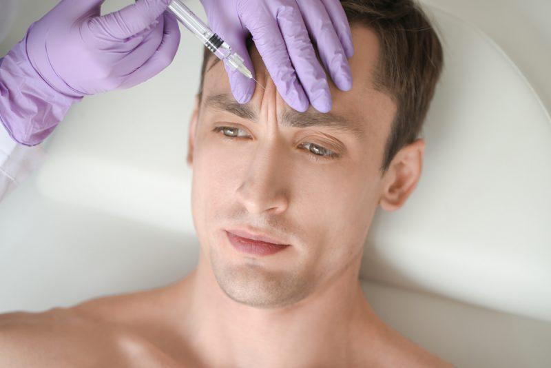 Man Getting Cosmetic Procedure