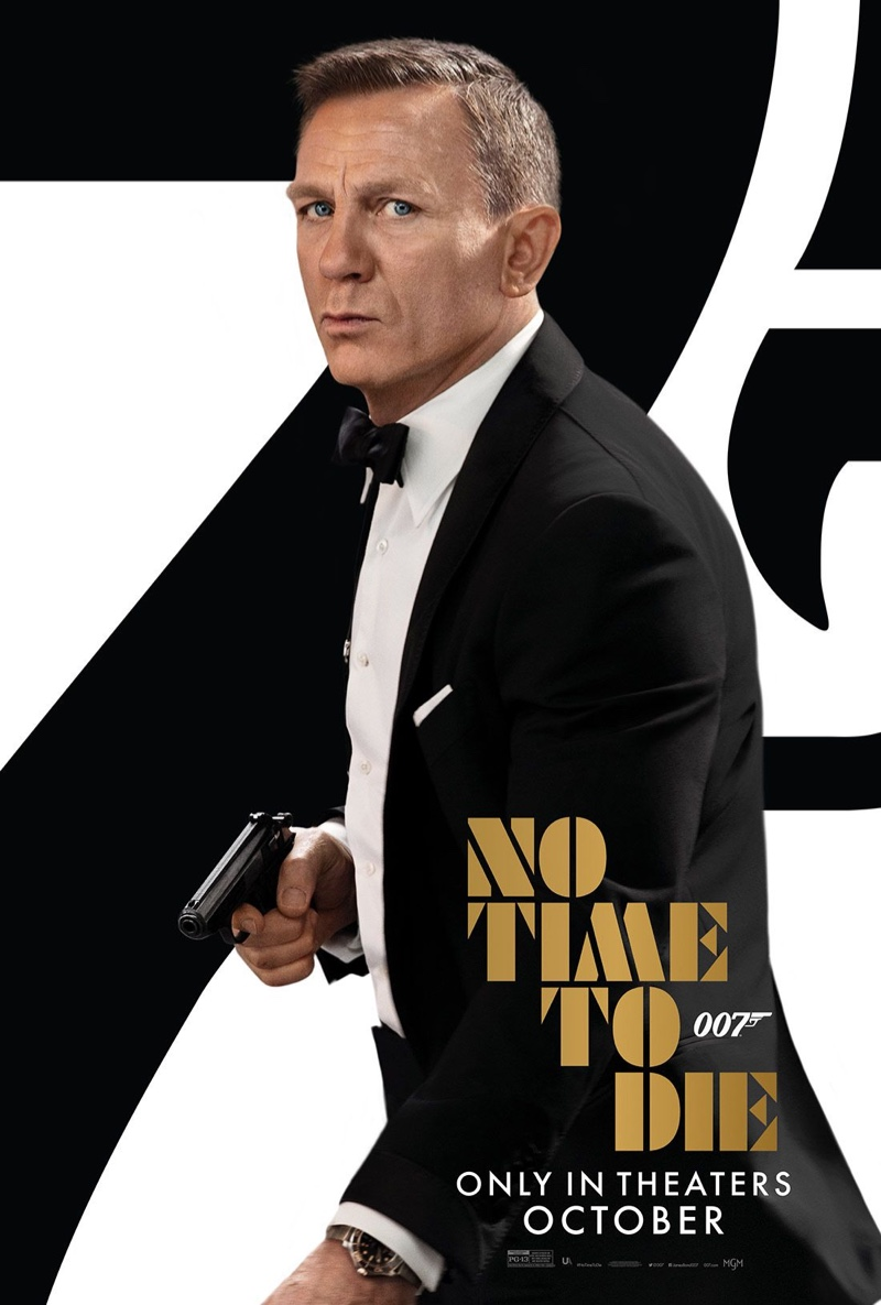 """Appearing in a new poster, actor Daniel Craig dons a Tom Ford tuxedo as James Bond in """"No Time to Die."""""""