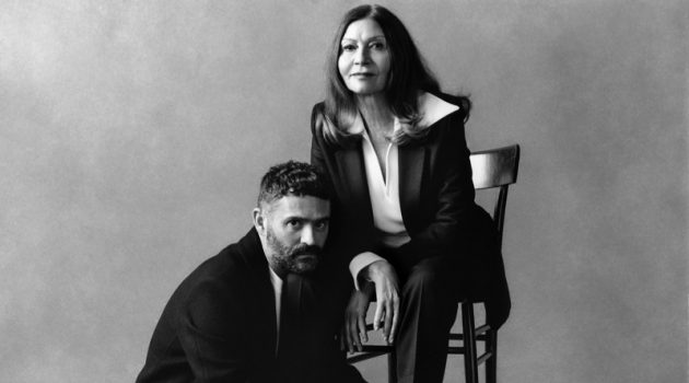 Alexandre Mattiussi and his mother appear in AMI's fall-winter 2021 campaign.