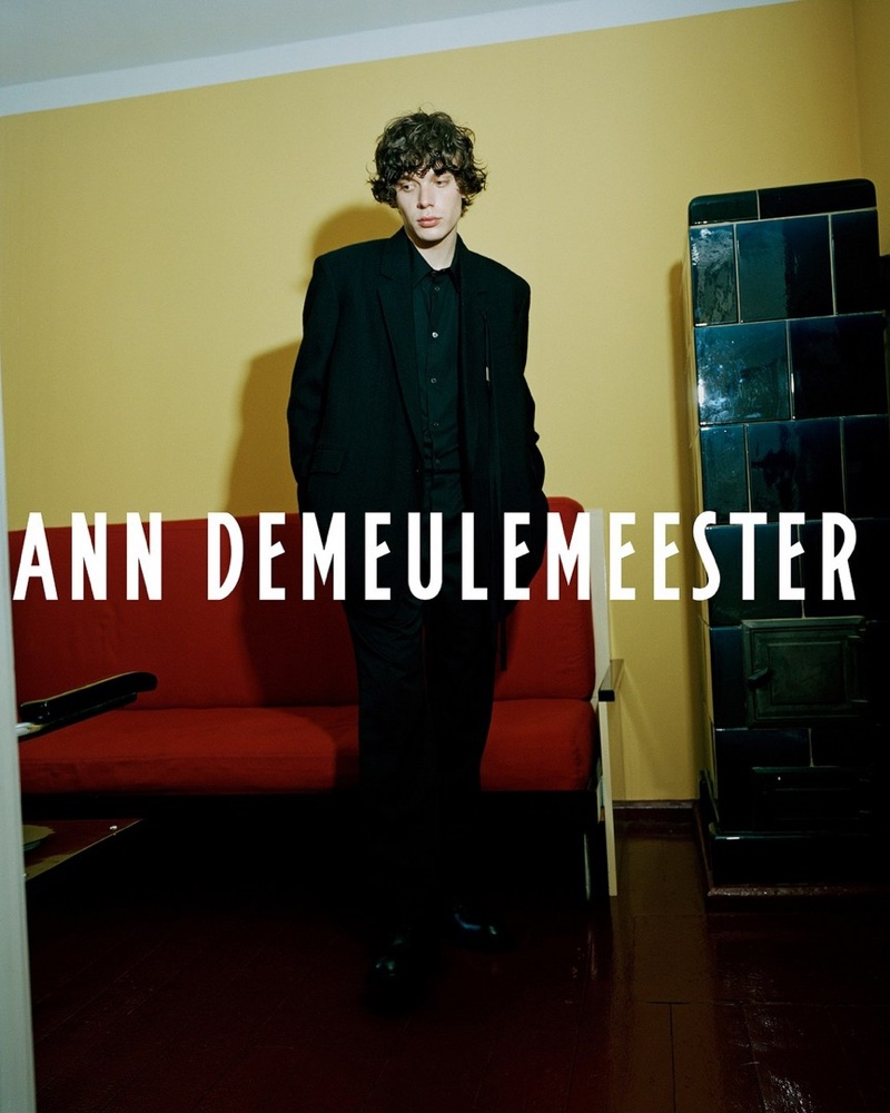Alice Rosati photographs Nick for Ann Demeulemeester's fall-winter 2021 campaign.
