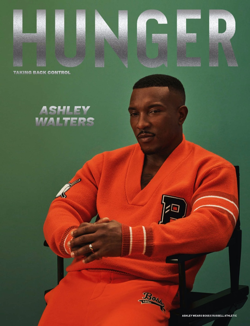 Ashley Walters covers the most recent issue of Hunger magazine.