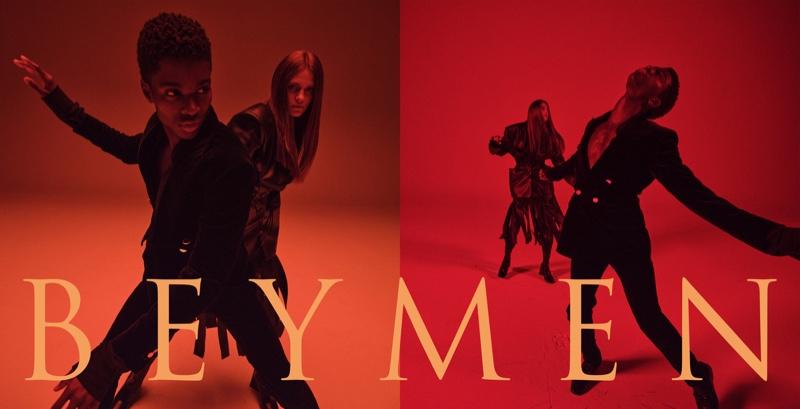 Hunter & Gatti photographs Alton Mason and Nataliya Bulycheva for Beymen's fall 2021 campaign.