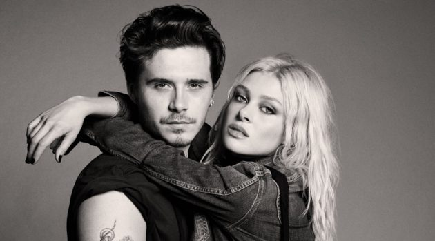 Rocking denim, Brooklyn Beckham and his fiancée Nicola Peltz appear in Pepe Jeans' fall-winter 2021 campaign.