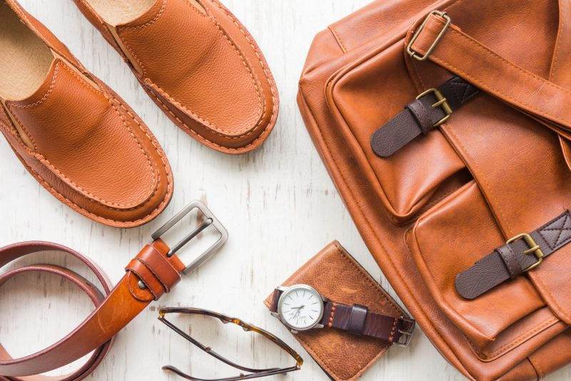 Brown Leather Mens Accessories