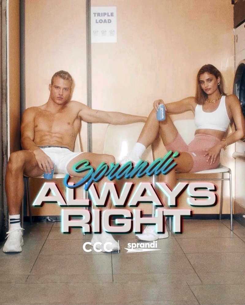 Models Matthew Noszka and Taylor Hill front CCC Sprandi's fall 2021 campaign.