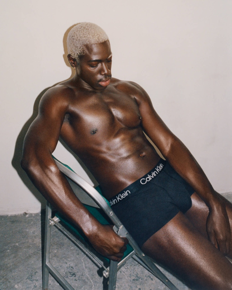 Moses Sumney fronts Calvin Klein's fall 2021 men's underwear campaign.