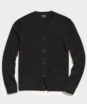 Cashmere Cardigan in Black