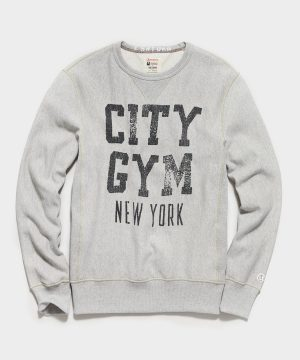 City Gym New York Sweatshirt in Light Grey Mix