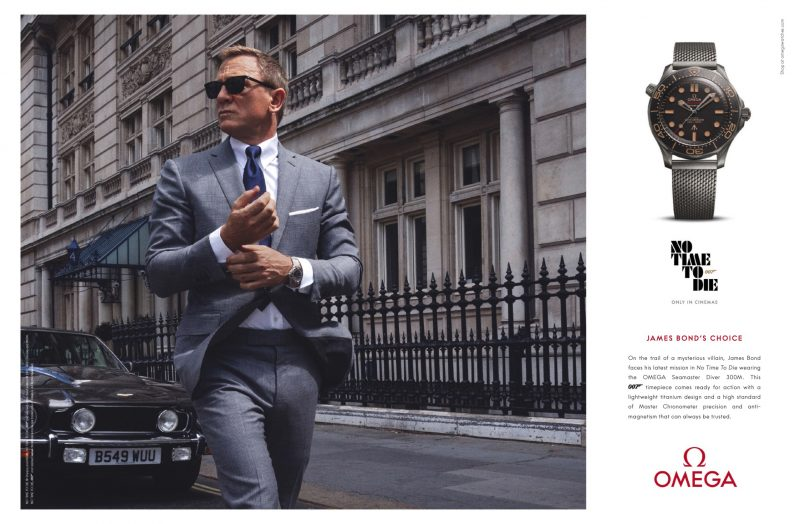 """Daniel Craig stars in an OMEGA campaign for the Seamaster Diver 300M watch that he wears as James Bond in the new 007 movie """"No Time to Die."""""""