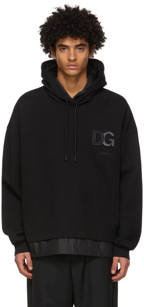 Dolce & Gabbana Black 3D Logo Hoodie