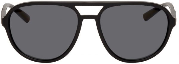 Dolce & Gabbana Black Aviator Sunglasses
