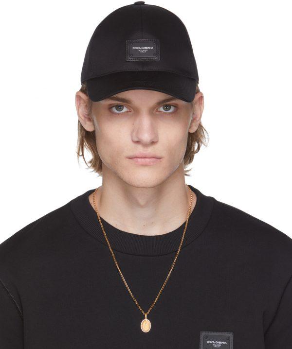 Dolce & Gabbana Black Baseball Cap