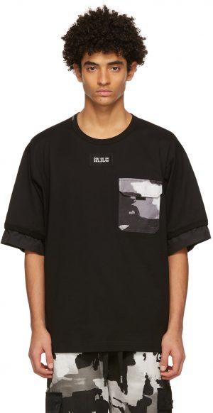 Dolce & Gabbana Black Camo Pocket T-Shirt