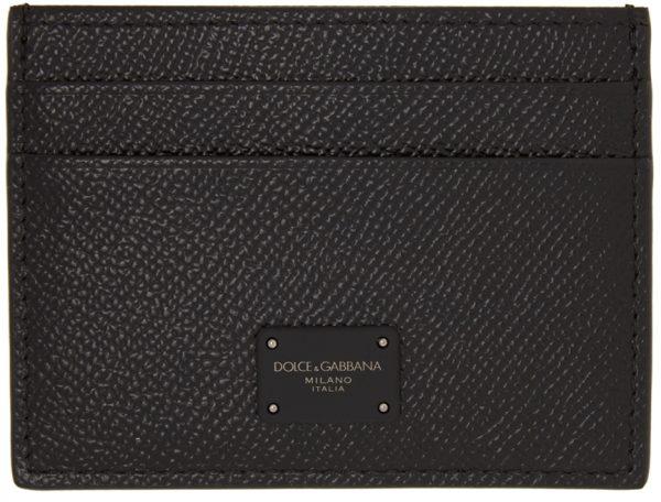 Dolce & Gabbana Black Dauphine Credit Card Holder