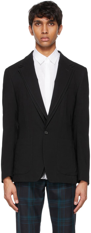 Dolce & Gabbana Black Deconstructed Blazer