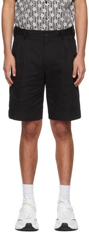 Dolce & Gabbana Black Double-Pleated Shorts
