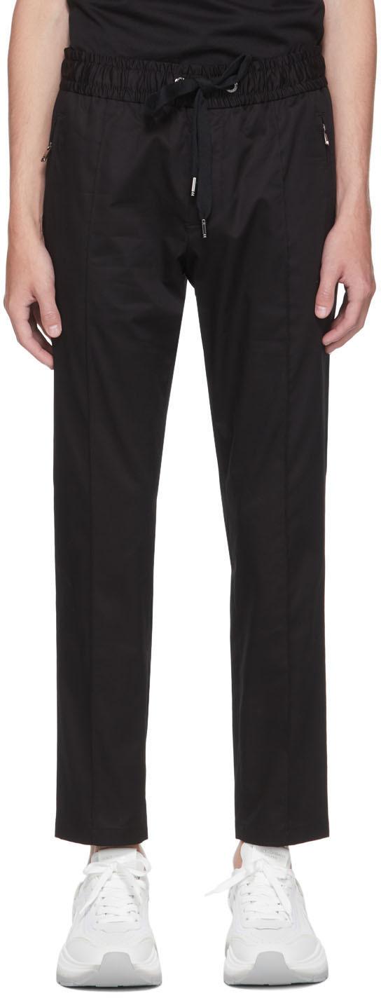 Dolce & Gabbana Black Essentials Gabardine Trousers