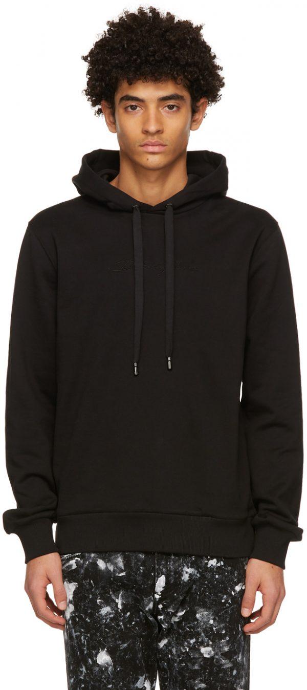 Dolce & Gabbana Black Jersey Hoodie